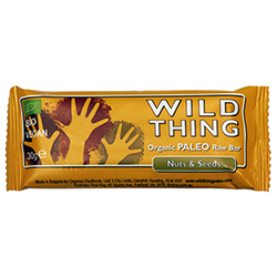 Barrita de ecológica nueces y semillas Raw Paleo Wild Thing 30g.