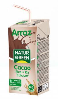 Bebida de arroz choco calcio mini Naturgreen 200ml.
