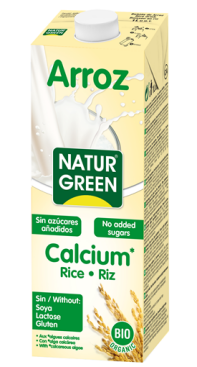 Bebida arroz calcio Naturgreen