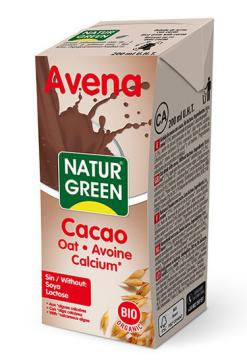 Bebida avena calcio choco NaturGreen 200ml.