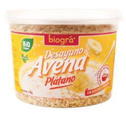 Desayuno Avena Plátano Biográ 220g.