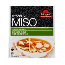 Sopa miso con verduras Biográ 4x10g.