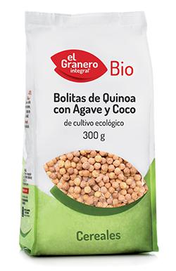 Bolitas de quinoa con agave y coco El Granero Integral 300g.