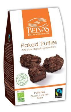 Trufas con virutas de chocolate Belvas 100g.