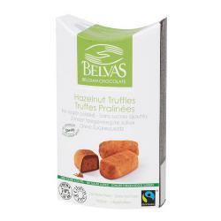 Trufas de praliné con stevia Belvas 100g.