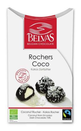 Bombones rocas de coco bio Belvas 100g.