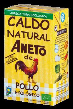 Caldo de pollo bio Aneto 1l.