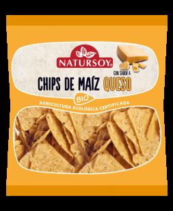 Chips de maíz con queso Natursoy 75g.