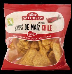 Chips de maíz con chili Natursoy 75g.