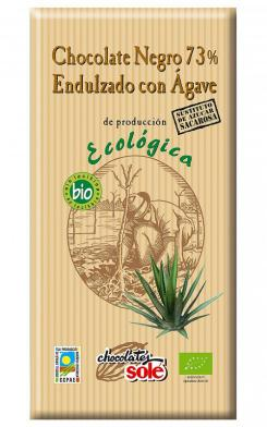 Chocolate negro 73% con agave Solé 100g.