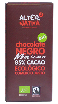 Chocolate negro 85% mascao Alternativa3 80g.