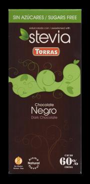 Chocolate negro con stevia Torras
