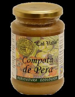 Compota de pera eco Cal Valls 350g.