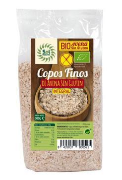 Copos de avena finos sin gluten Sol Natural 500g.