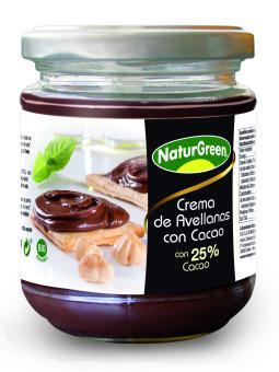 Crema avellanas con 25% cacao Naturgreen