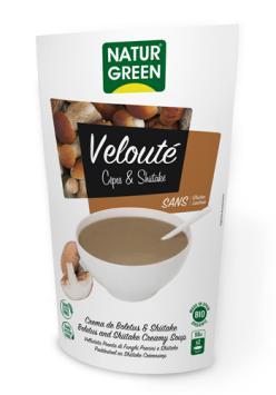 Crema ecológica de boletus shiitake tamari Naturgreen 500ml.