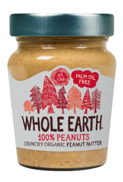 Crema de cacahuete crunchy Whole Earth