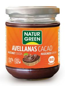 Crema de cacao y avellanas NaturGreen 200g.