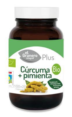 Cúrcuma y pimienta El Granero Integral 100 + 20 cápsulas