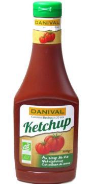 Ketchup sin azúcar Danival 560g.