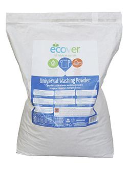 Detergente en polvo universal Ecover en saco de 7,5kg.