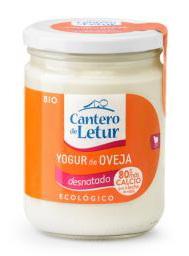 Yogur oveja desnatado El Cantero de Letur 420g.