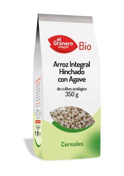 Arroz integral hinchado con agave 350g.