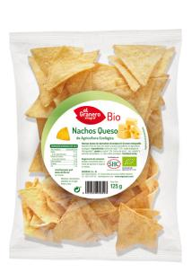 Nachos queso bio El Granero Integral 125g.