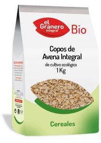 Copos de avena integral bio El Granero Integral 1kg.