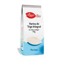 Harina de trigo integral bio El Granero Integral 1kg.