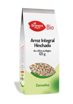 Arroz integral hinchado bio El Granero Integral 125g.