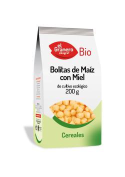 Bolitas de maíz con miel bio El Granero Integral 200g.