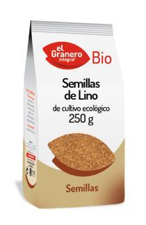 Semillas de lino bio El Granero Integral 250g.