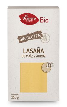 Láminas lasaña sin gluten El Granero Integral
