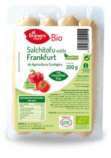 Salchichas de tofu estilo frankfurt El Granero Integral 200g.