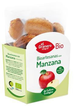 Galletas bioartesanas manzana El Granero Integral 250g.