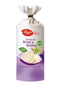 Tortitas de arroz y quinoa bio 100g.