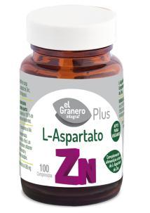 L-aspartato de zinc El Granero Integral 100 comprimidos 360mg.