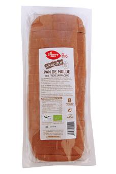 Pan de molde con trigo sarraceno sin gluten bio El Granero Integral 445g.