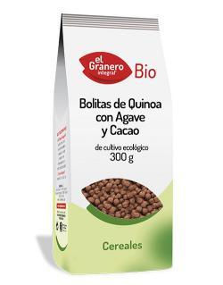 Bolitas de quinoa con agave y cacao El Granero Integral 300g.