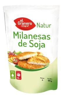 Milanesas de soja El Granero Integral