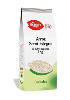 Arroz semi integral El Granero Integral 1kg.