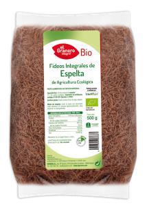 Fideos integrales de espelta bio 500g.