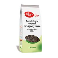 Arroz integral hinchado con agave y cacao El Granero Integral 350g.