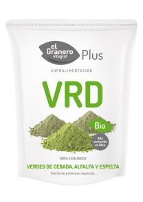Verdes de espelta, cebada y alfalfa bio 200g.