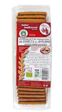 Galletas integrales de espelta y jengibre 220g. El Horno de Leña