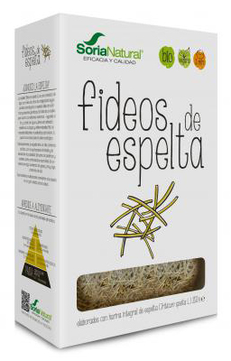 Fideos integrales de espelta primitiva Soria Natural 250g.