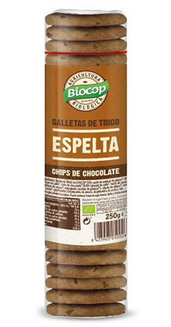 Galletas de espelta con chips de chocolate Biocop 250g.
