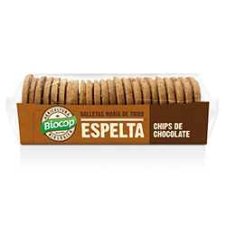 Galleta espelta chocolate Biocop 200g.