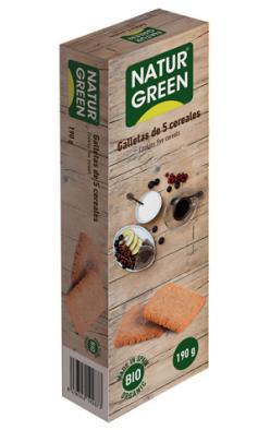 Galletas ecológicas 5 cereales Naturgreen